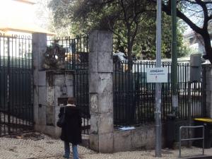 Na entrada da Escola Raul Lino, os peões correm perigo enquanto não for encontrada um solução segura